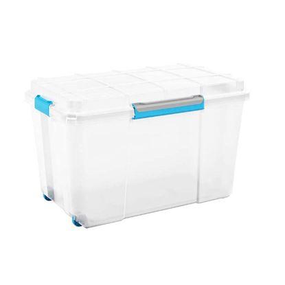 Immagine di Contenitore Scuba box, ermetico, 2 ruote, trasparente, 73,5x44,5xh46 cm