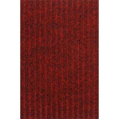 Immagine di Passatoia Brio, agugliato verticale, in polipropilene, fondo con peduncoli PVC, spessore 12,5 mm, h 1 mt, colore rosso