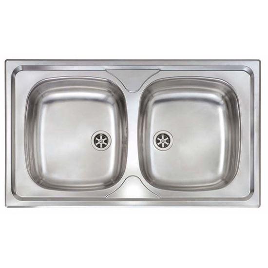 Lavello inox Mondial, 2 vasche, 86x50 cm, ARREDO CASA - Prodotti per ...