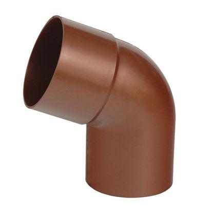 Immagine di Curva Tecno Imac, per tubo discendente, colore rame rosso, Ø 80 mm, 67°