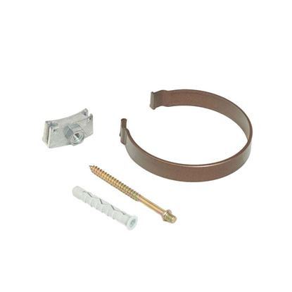 Immagine di Collare Tecno Imac, per tubo discendente, Ø 80 mm, colore marrone
