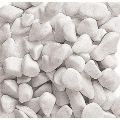Immagine di Ciottolo Zandobbio, bianco Carrara, confezione 20 kg, 7/15 mm