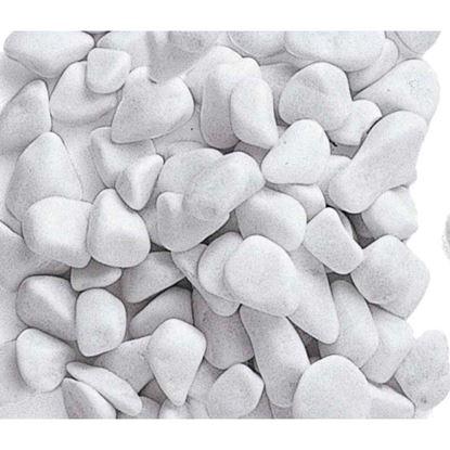 Immagine di Ciottolo Zandobbio, bianco Carrara, confezione 20 kg, 15/25 mm
