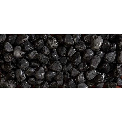 Immagine di Ciottolo Zandobbio, nero Ebano, 25/40 mm, confezione 20 kg