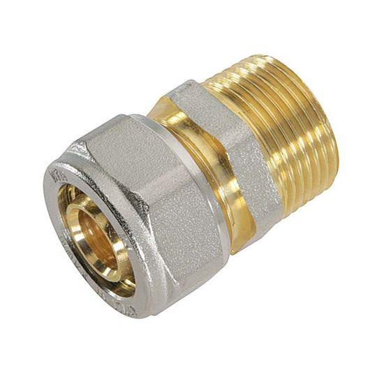 """Immagine di Raccordo a stringere dritto, per tubo multistrato, M 3/4""""x16 mm"""
