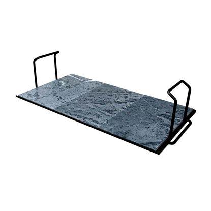 Immagine di Pietra ollare Palazzetti, Bioplatt Easy, con supporto in acciaio verniciato, 52 cm