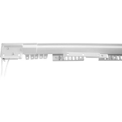 Immagine di Scorritenda Easy, binario estensibile, colore bianco, 122/213 cm
