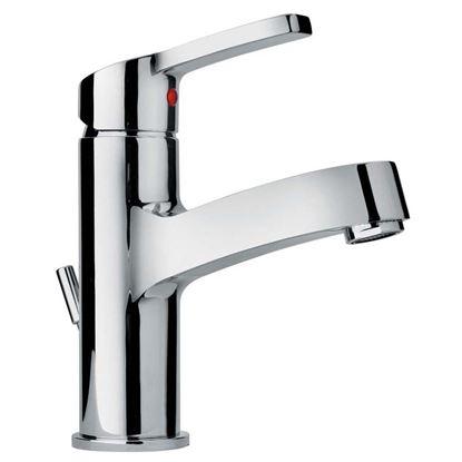 """Immagine di Miscelatore lavabo Paini, Grey, con scarico Hostaform, 1""""1/4, colore cromo"""