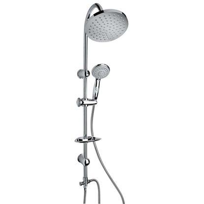 Immagine di Colonna doccia, Shine, soffione da 20 cm, 5 getti, colore cromo