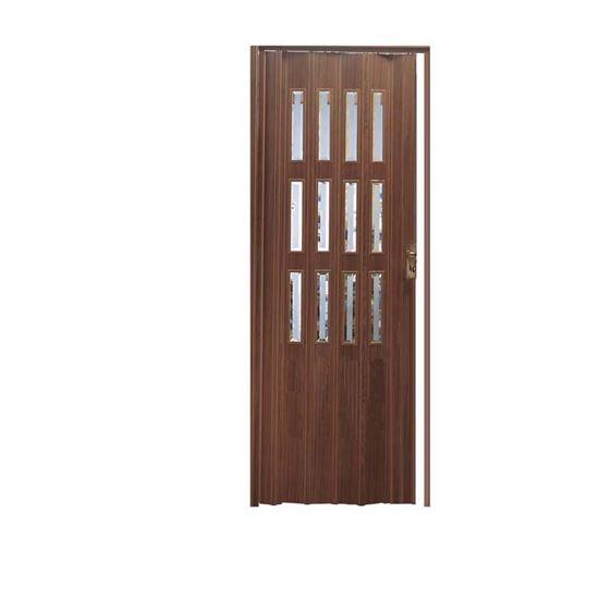 Porta a soffietto 88 5xh214 cm colore noce scuro porte for Colore noce scuro
