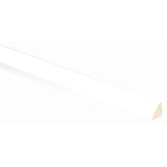 Quarto Di Tondo Legno Bianco.Quarto Tondo Bianco 10x10x3000 Mm