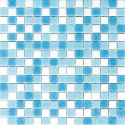 Immagine di Mosaico Mix, miscelato in pasta di vetro, confezione da 2,14 m², colore azzurro