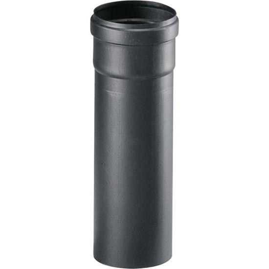 Tubo per stufa a pellet 80 mm colore nero 25 cm for Stufa a pellet per 80 mq