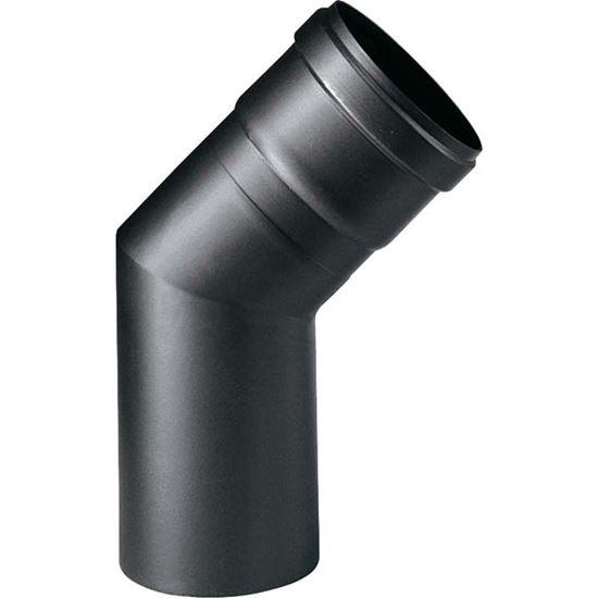Immagine di Curva 45°, per stufa a pellet, colore nero, Ø 80 mm