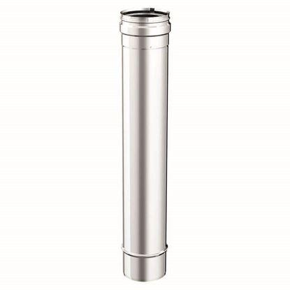 Immagine di Tubo acciaio inox, monoparete, AISI 316 L, Ø180 50 cm
