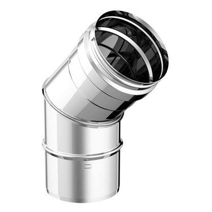 Immagine di Curva a 45°, acciaio inox AISI 316L, monoparete, Ø 80 mm