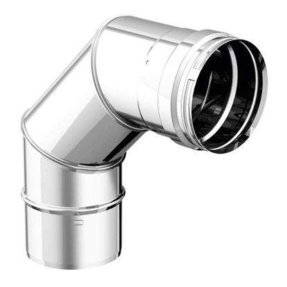 Immagine di Curva a 90°, acciaio inox AISI 316L, monoparete, Ø 250 mm