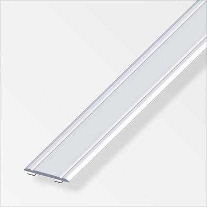 Immagine di Profilo di raccordo autoadesivo, 30x2 mm, 1,0 mt, alluminio ottonato