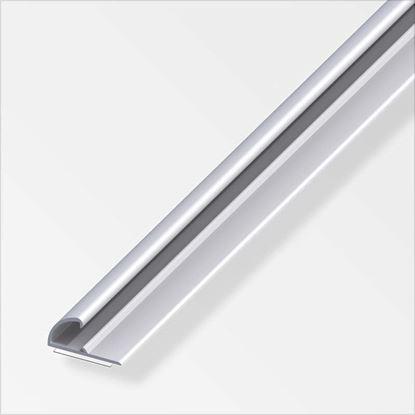 Immagine di Profilo di chiusura autoadesivo, 26x13 mm, 1,0 mt, alluminio argento
