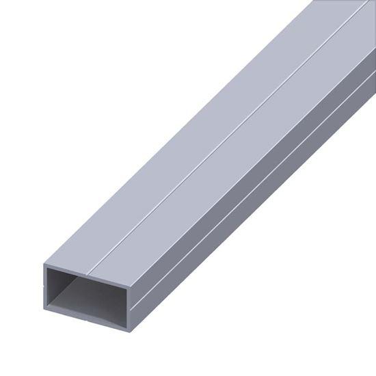 Tubo rettangolare alluminio naturale 15 5x27 5 mm 1 mt for Profili alluminio leroy merlin