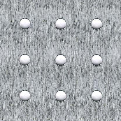 Immagine di Lamiera perforata, alluminio naturale, 250x500x1,5 mm