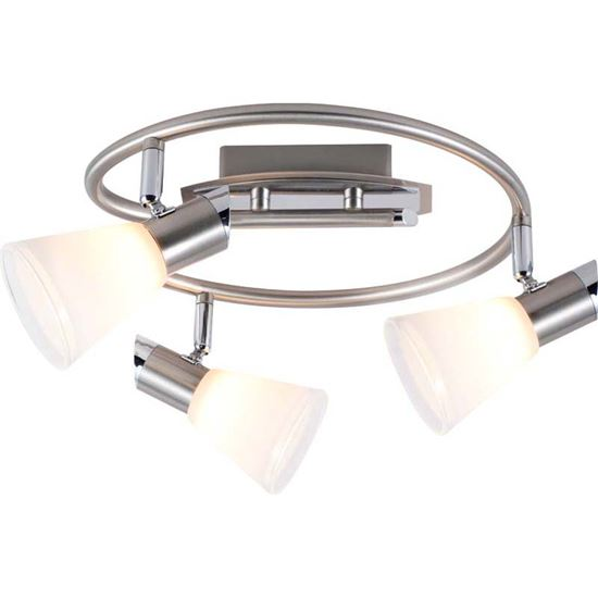 Spirale bradley g9 3x33 w cromo vetro opale chiaro lampade re