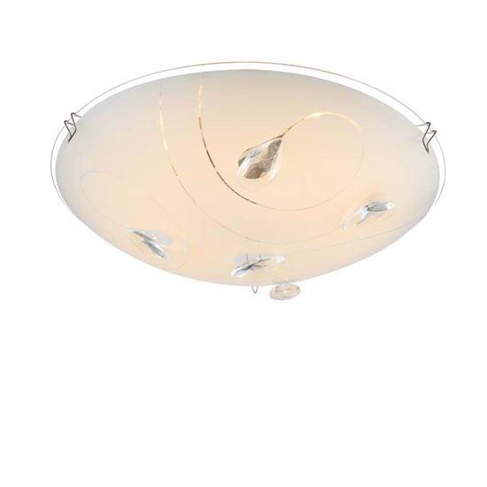 Plafoniere Con Gocce Di Cristallo : Applique narnia 8 w a led vetro con gocce di cristallo lampada