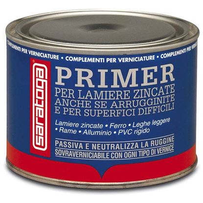 Immagine di Ancorante Saratoga, per lamiere zincate, ferro, leghe leggere, alluminio, rame, PVC rigido e vetroresina, 500 ml