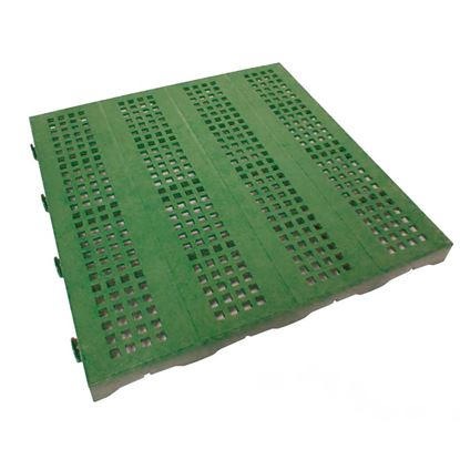 Immagine di Mattonella forata plastificata, in polietilene, carrabile, modulare, colore verde, 40x40 cm