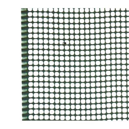 Immagine di Rete mini-quadra, in polipropilene HDPE, colore verde, maglia 5x5 mm, 1x5 mt