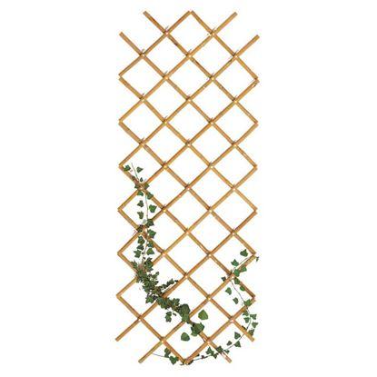 Immagine di Traliccio in bamboo, estensibile, colore naturale, canna Ø 20/22 mm, 90x180 cm