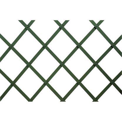 Immagine di Traliccio in plastica, estensibile, colore verde, listello 22x6 mm, 100x100 cm