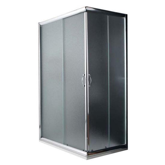 Box doccia Giada, profilo alluminio anodizzato cromo lucido, cristallo ...