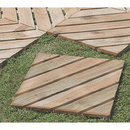 Immagine di Quadrotto diagonale, in pino impregnato, 50x50 cm