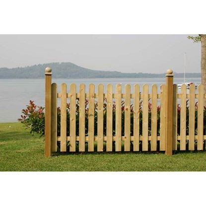 Immagine di Steccato Retta, recinzione in pino impregnato, spessore listelli 20 mm, 180xh100 cm