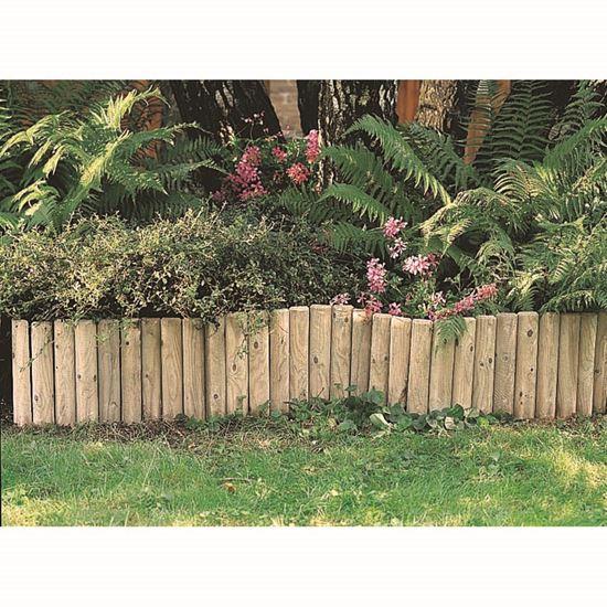 Bordura da giardino in pino impregnato sezione a mezzo for Bordura giardino