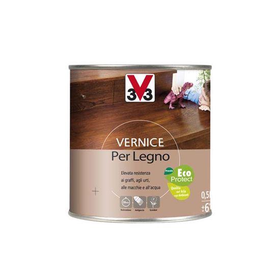 Vernice per legno V33, toni legno, aspetto brillante, 0,5 lt, colore ...