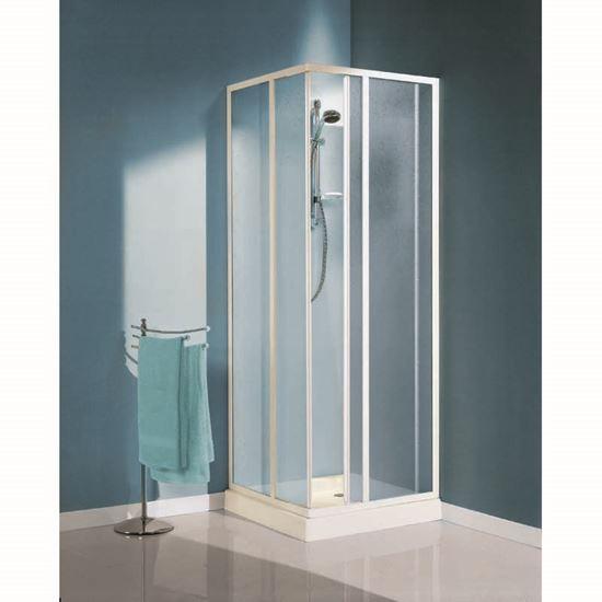 Immagine di Box doccia Artico, profilo bianco, acrilico, 68-79/78-89 ...
