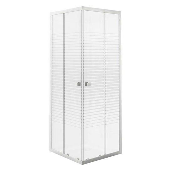 Box doccia Gala, profilo alluminio bianco, cristallo temperato 4 mm ...