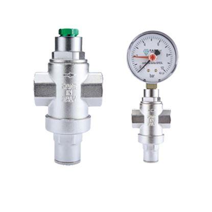 "Immagine di Riduttore di pressione mini, IVR, nichelato, manuale, FF 3/4"""