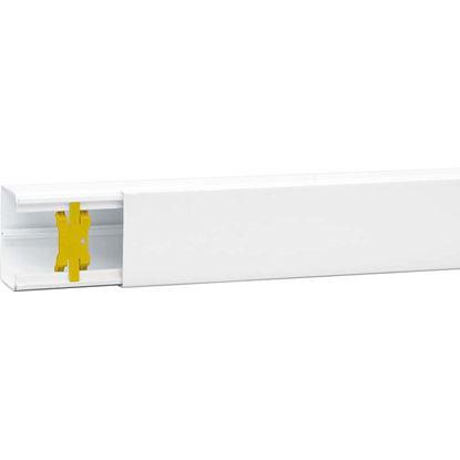 Immagine di Canalina, colore bianco, 2 mt, 60x40 mm