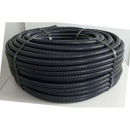 Immagine di Tubo corrugato, colore nero, senza tirafilo, bobina 25 mt, Ø 16 mm