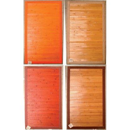 Immagine di Tappeto bamboo, fondo antiscivolo, fantasia degradè, 50x80 cm