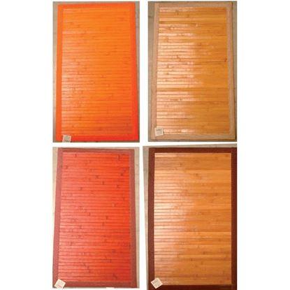 Immagine di Tappeto bamboo, fondo antiscivolo, fantasia quadretti, 50x100 cm