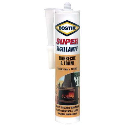 Immagine di Super Sigillante Barbecue & Forni, mastice refrattario, resistente fino a 1250°, 530 gr