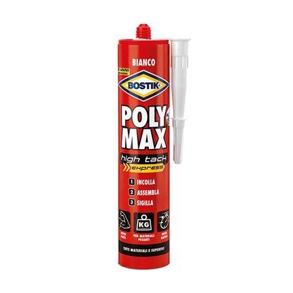 Immagine di Adesivo Bostik Poly Max, incolla, assembla e sigilla, resistente anche ad acqua marina, colore bianco, 435 gr