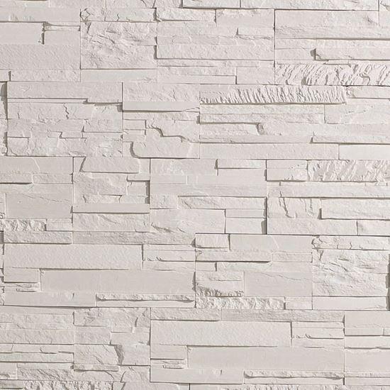 Placchetta bricostone bianco per interno moduli sagomati - Piastrelle senza fuga ...