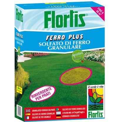 Immagine di Concime Flortis, ferro plus, solfato di ferro granulare, per prati e orti, 2 kg