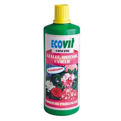 Immagine di Concime Ecovit, liquido, azalee, ortensie e camelie, per tutte le piante acidofile, 1 kg