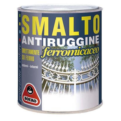 Immagine di Smalto antiruggine, 0,750 lt, colore grigio chiaro, grana grossa